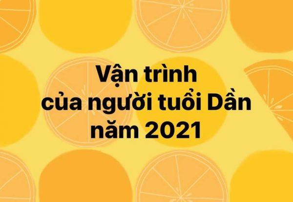 Vận trình của người tuổi Dần năm 2021 !